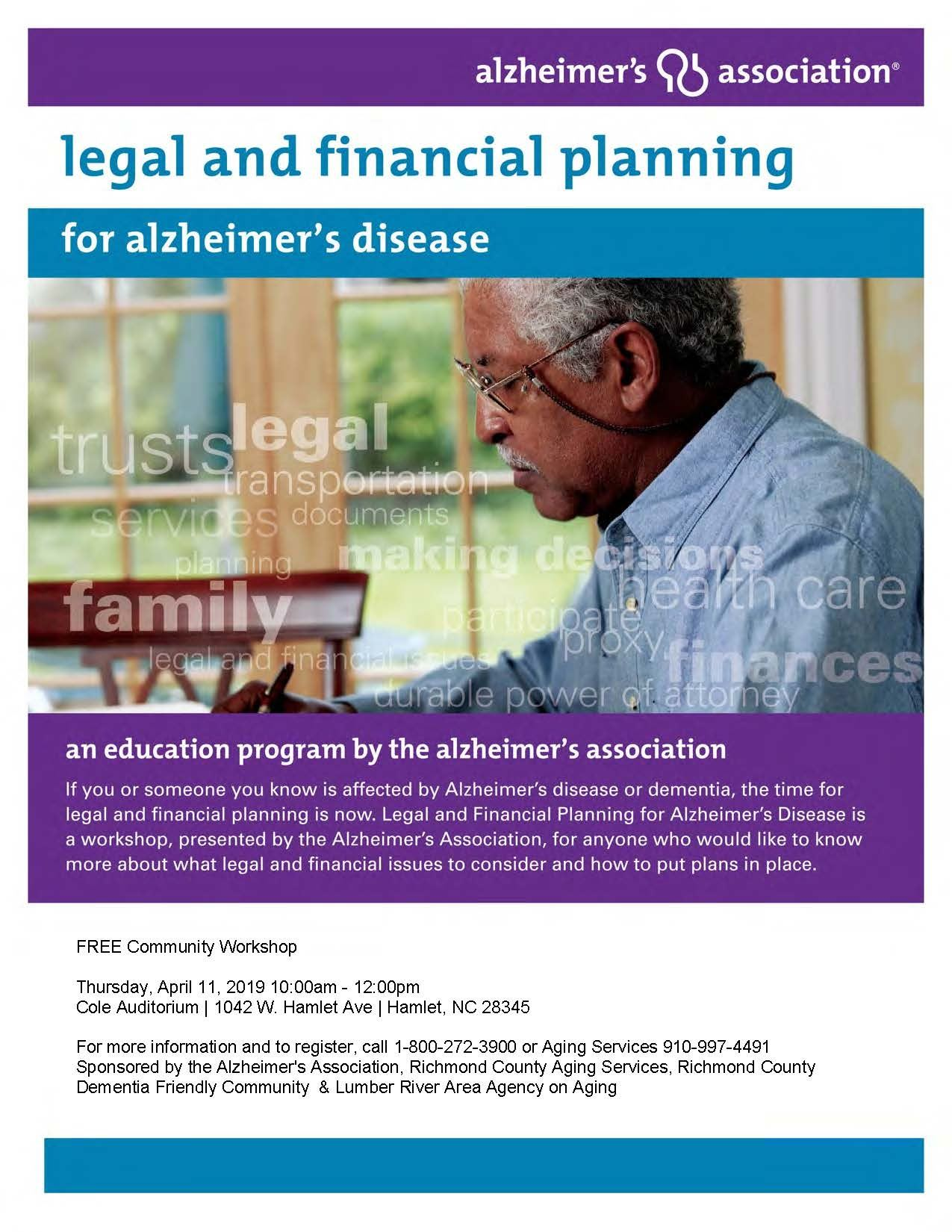 Legal and Financial Planning Workshop Richmond County