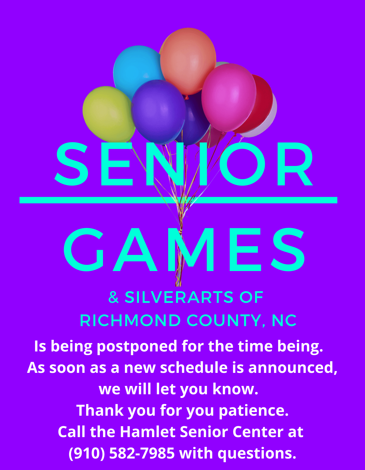 Senior games postponed 2020