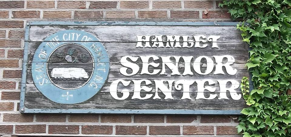 hamlet senior center sign