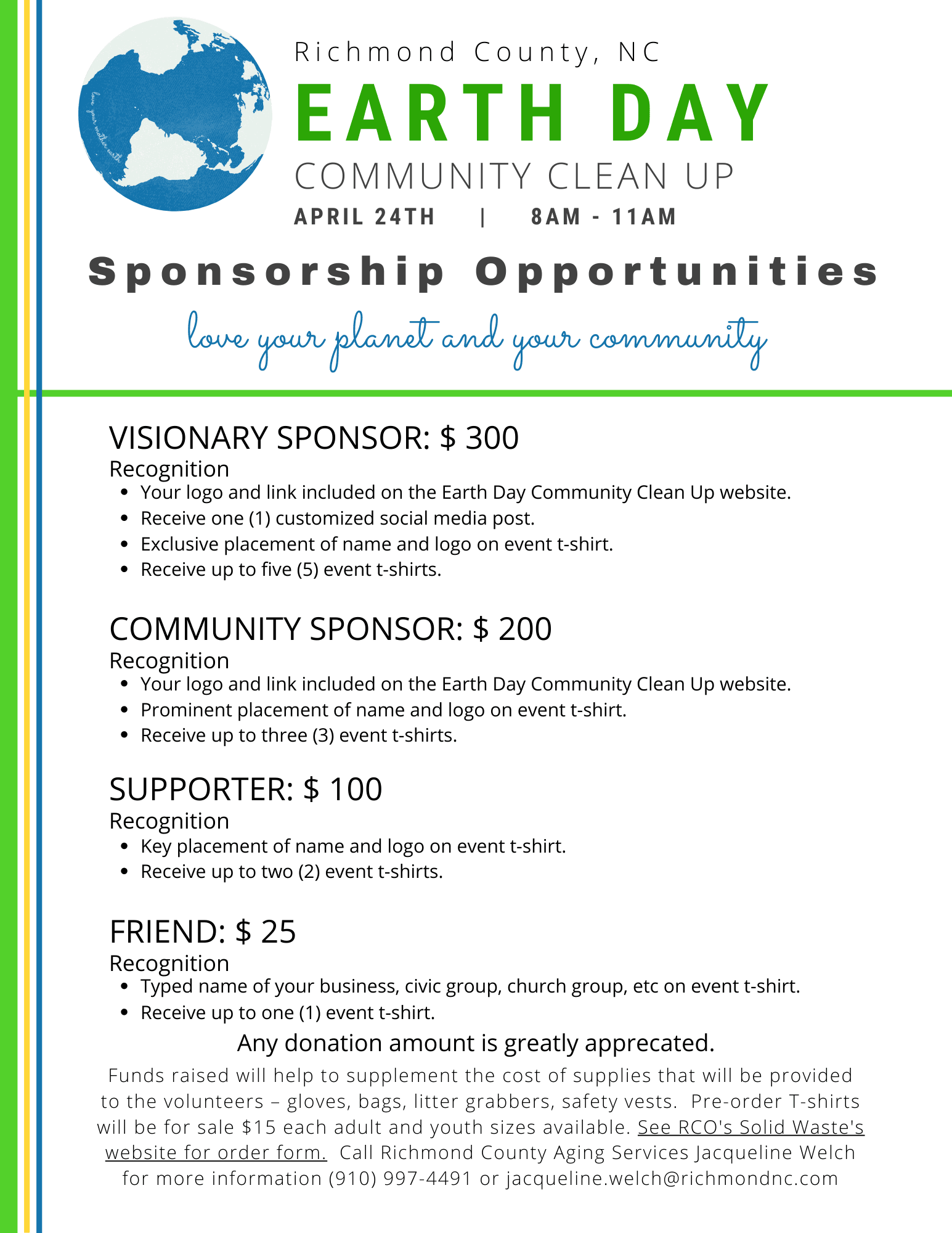 RCO RCAS - Earth Day 2021 Sponsorships
